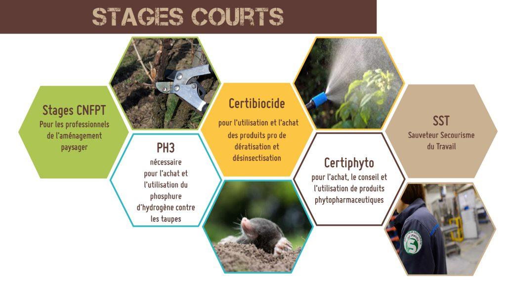 Le CFPPA Les Vaseix Bellac propose des formations courtes pour les professionnels, tel que le PH3, les formations crtibiocide, certiphyto ou encore des stages CNFPT.